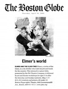 Elmer in the Boston Globe 4.09