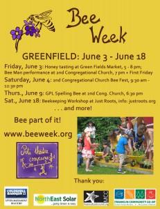 Greenfield Bee Week Poster 2016