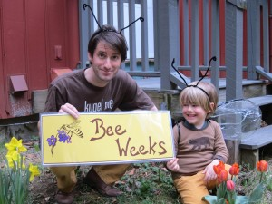 Jonathan and Ezekiel Mirin prepare for Bee Week.forweb