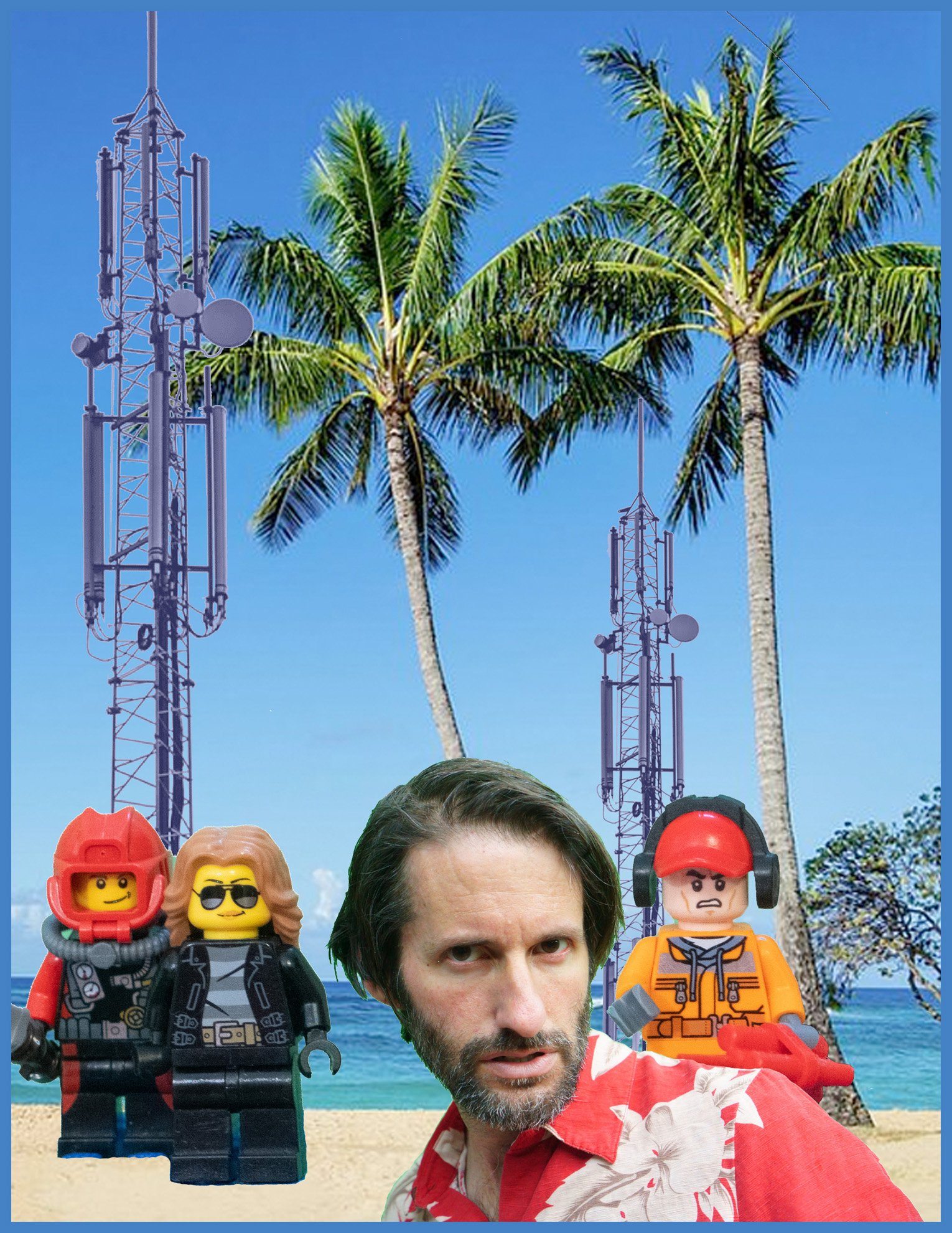 h5g jon with legos and towers